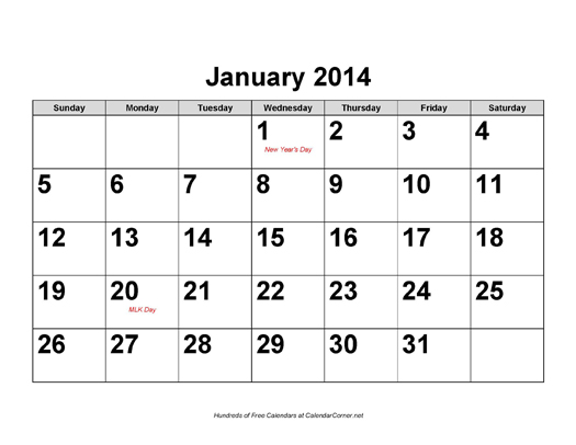 Calendar 2014 Pdf Free Download