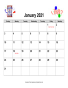 2021 Holiday Graphics Calendar, Landscape with Holidays