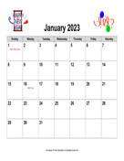 2023 Holiday Graphics Calendar, Landscape with Holidays
