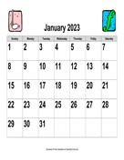 2023 Large-Number Music Calendar, Landscape