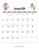 2024 Holiday Graphics Calendar, Landscape with Holidays