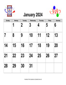 2024 Large-Number Holiday Graphics Calendar, Landscape
