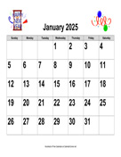 2025 Large-Number Holiday Graphics Calendar, Landscape