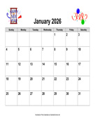 2026 Holiday Graphics Calendar, Landscape
